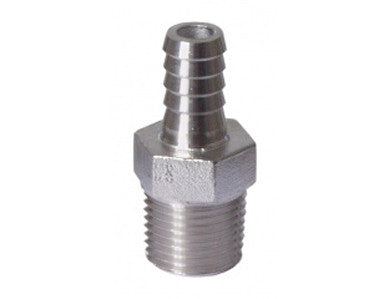 "BARB - 1/2"" MPT X 3/8"" - STAINLESS"