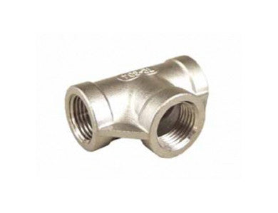 "TEE - 1/2"" FPT - STAINLESS"