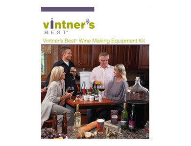 VINTNER'S BEST WINE EQUIPMENT KIT WITH GLASS CARBOY