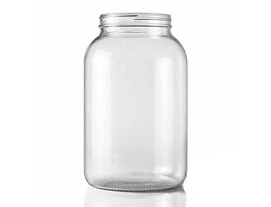 WIDE MOUTH CLEAR GLASS JUG (ONE GALLON)