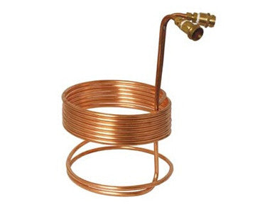 "WORT CHILLER - 25' x 3/8"" W/ BRASS FITTINGS"