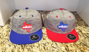Houston Texas Flatbill Hat - Houston Skyline