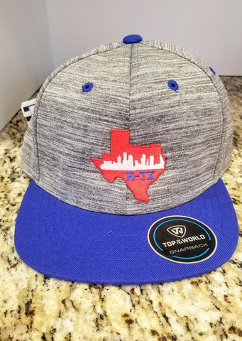 Houston Texas Blue Flat bill Hat - HTown