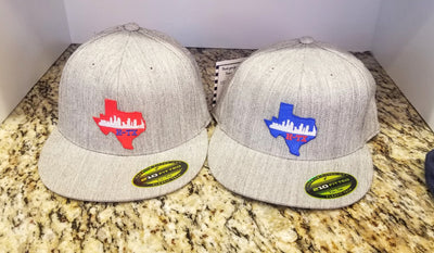 Houston Texas Skyline Flat bill Hat
