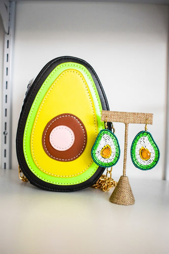 Avocado Purse, Avocado Cross body purse