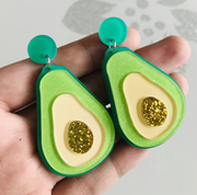 Avocado Earrings, Brunch Earrings
