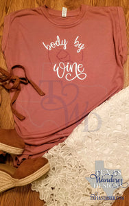Body By Wine Flowy Muscle Tee With Rolled Cuff