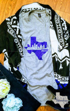Load image into Gallery viewer, Houston Texas Skyline Glitter T Shirt