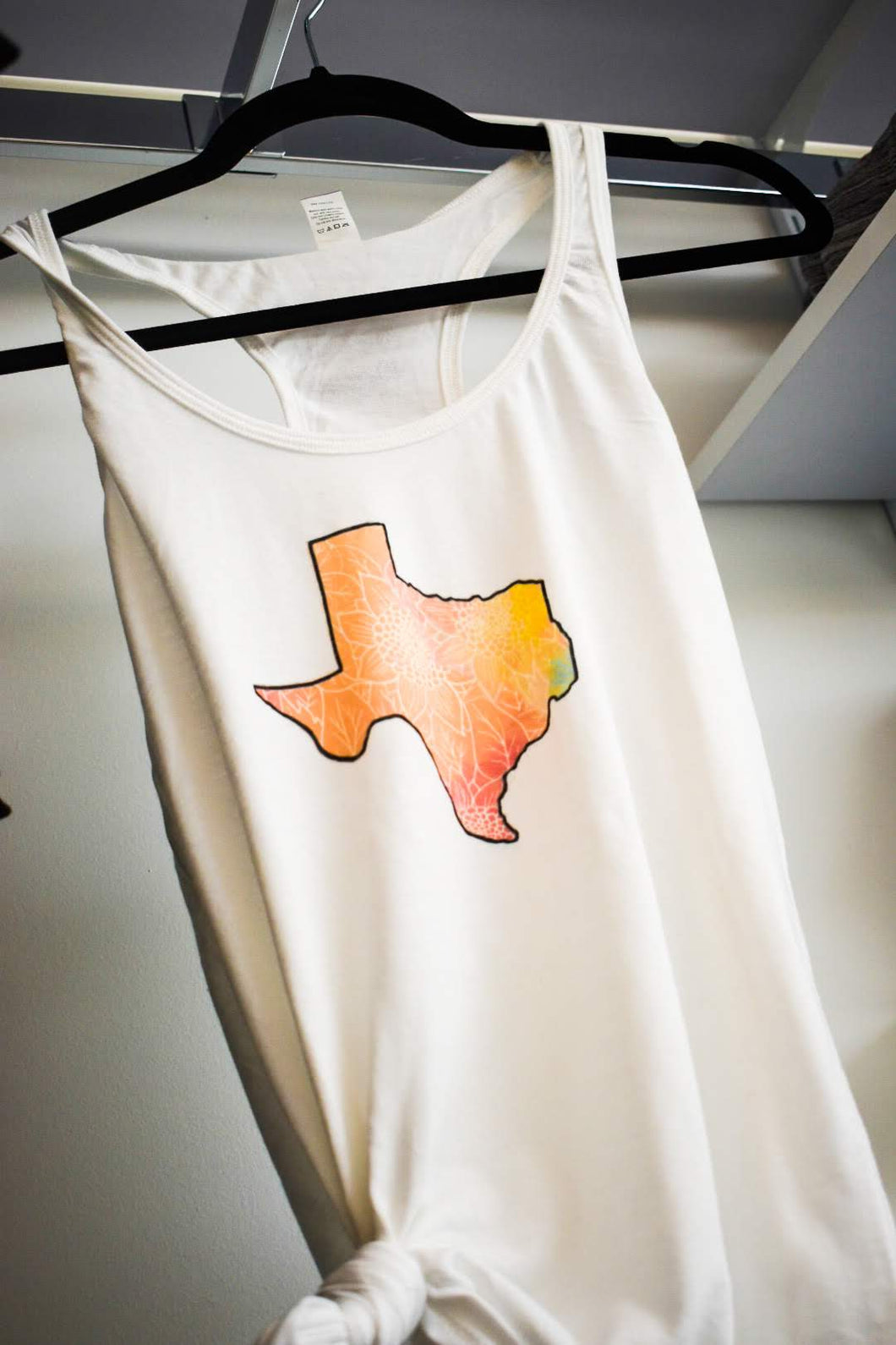 Texas Sunflower Watercolor Tank Top