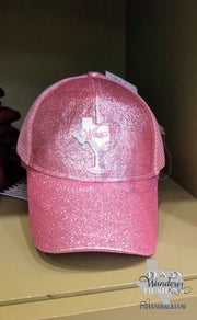 Texas Glitter Wine Hat High Ponytail Cap