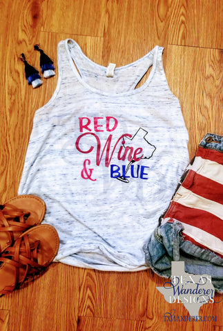 Texas Wine Tank Top, Wine Shirt