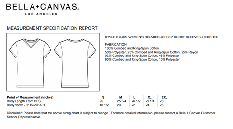 Bella Canvas King of Country Shirt Sizing