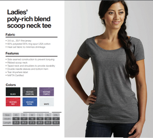 Tultex Scoop neck Margarita Shirt