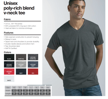 Load image into Gallery viewer, Tultex V-Neck Size Chart