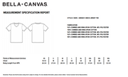 Bella Canvas Wine Shirt Sizing