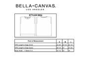 Specs for Bella-Canvas 8804 - Women's Flowy Muscle Tee With Rolled Cuff