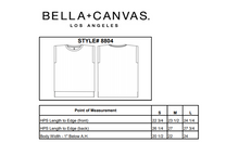 Load image into Gallery viewer, Specs for Bella-Canvas 8804 - Women's Flowy Muscle Tee With Rolled Cuff