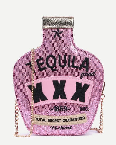 Pink Tequila Glitter Purse