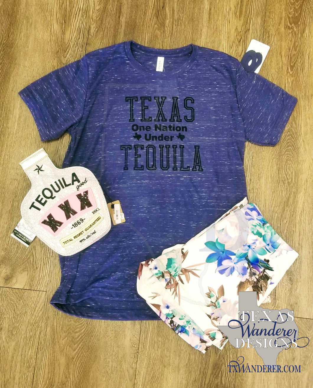 Texas One Nation Under Tequila Shirt - Funny Texas Tee