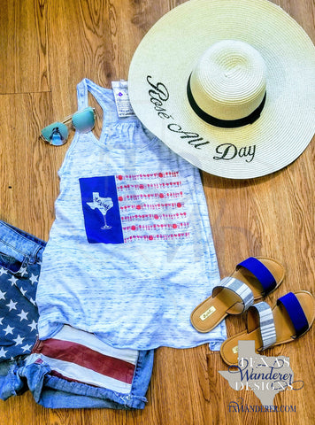 Summer Beach Texas Tank top, Texas Summer tank