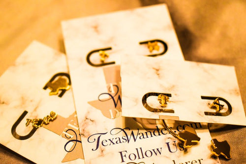 Texas Word and Texas State Earrings