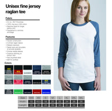 Load image into Gallery viewer, Houston Raglan Shirt Sizing