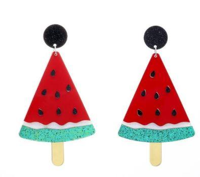 Watermelon Acrylic Earrings