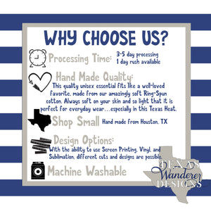 Why Choose Texas Wanderer Dog Mom Shirt