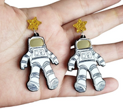 Houston Astronaut Earrings