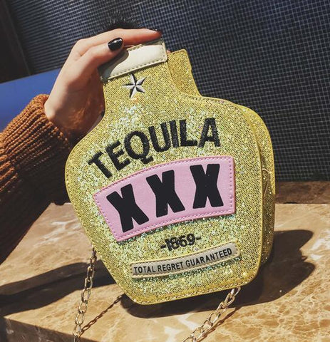 Gold Tequila Holiday Purse