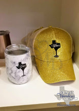 Load image into Gallery viewer, Texas Wine Tumbler and Texas Hat