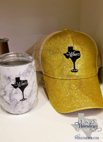 Texas Trucker Hat, Glitter Texas Ponytail hat