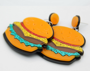 Hamburgers Earrings, French Fries Earrings, hotdogs earrings