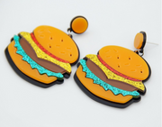 fun food lover earrings
