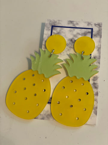 Pineapple Earrings, Summer Earrings