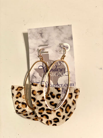 Leopard Red Earrings