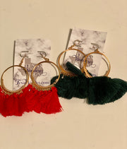 Hoop Fringe Earrings
