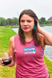 Wineo Muscle Tank | Wine Workout Tank | Texas Wine Tank