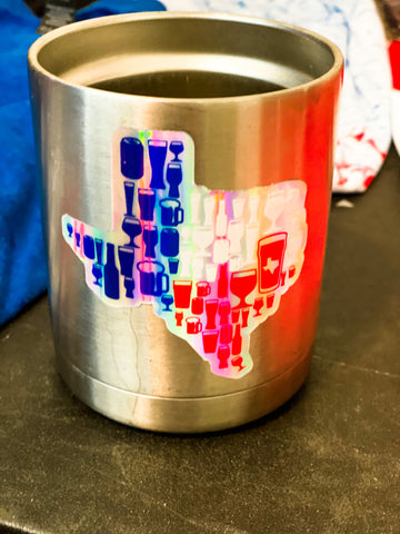 Texas Flag Beer Sticker