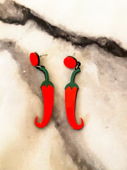 Spicy Pepper Earrings | Taco Earrings | Spicy Earrings