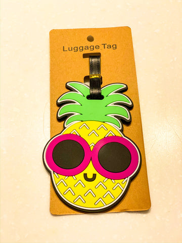 Pineapple Face Luggage Tag