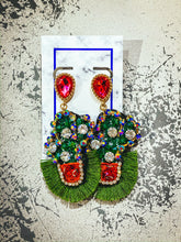 Load image into Gallery viewer, Fringe Cactus Earrings