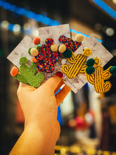 Load image into Gallery viewer, cactus stud earrings