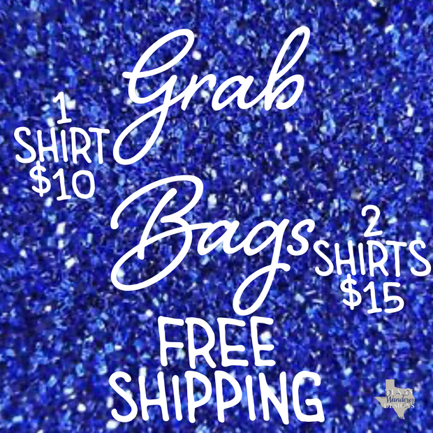 Grab Bag Shirts, Sale Shirts, Random Texas Shirts