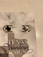Dainty Texas State Shape Earrings