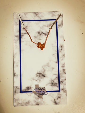 Gold Dainty Texas Necklace