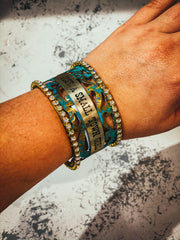 rodeo cuff turquoise bracelet