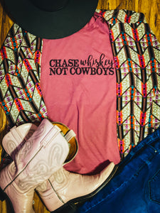 Chase Whiskey Not Cowboys Shirt