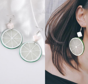 Drop Lime Cocktail Earrings