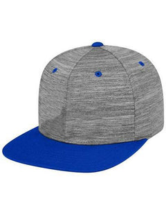 6 Pannel Flatbill Structured Adjustable snap back Hat